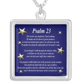 星の上等の賛美歌23 シルバープレートネックレス