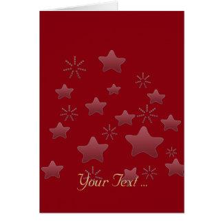 星の休暇の季節のギフトに カード