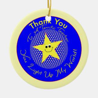 星の先生は学生からの感謝していしています セラミックオーナメント