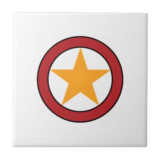 星の円のバッジ タイル