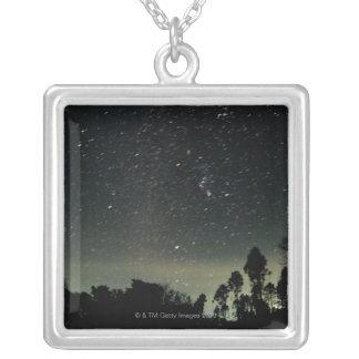 星の冬の三角形 シルバープレートネックレス