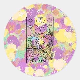 星の占いカード ラウンドシール