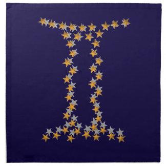 星の印のジェミニ ナプキンクロス