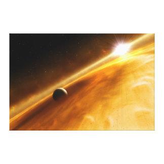 星の回りを回る惑星Fomalhaut B キャンバスプリント