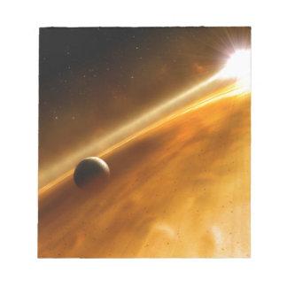 星の回りを回る惑星Fomalhaut B ノートパッド