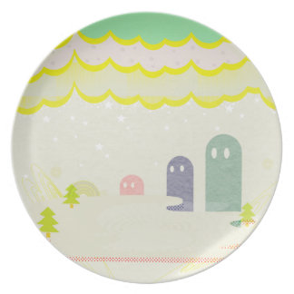 星の国の不思議な生物Delta01typeDのかわいいお皿 プレート