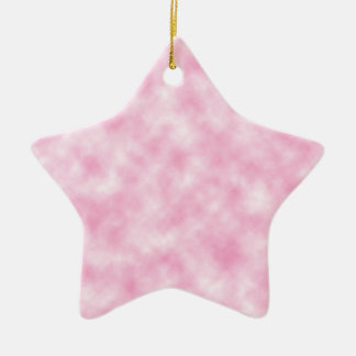 星の形の作成されたピンクの雲のデザイン 陶器製星型オーナメント