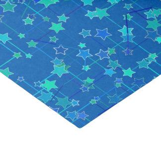 星の抽象的な星座、コバルトブルー 薄葉紙