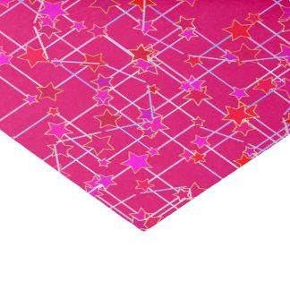 星の抽象的な星座、深い赤紫のピンク 薄葉紙