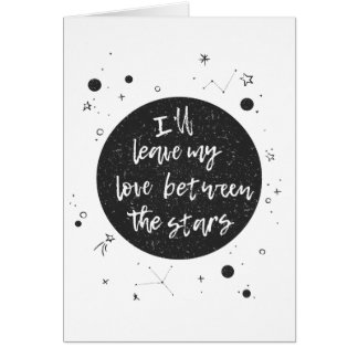 星の挨拶状間の愛 カード