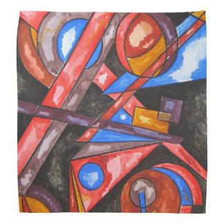星の旅行モダンの芸術の手塗りの幾何学的 バンダナ