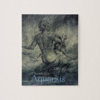 星の星座の(占星術の)十二宮図の占星術のアクエリアス ジグソーパズル