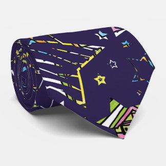 星の濃紺およびパステル オリジナルネクタイ