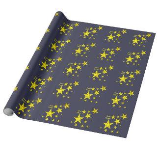 星の物の包装紙 ラッピングペーパー