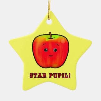 星の生徒: 男の子Apple セラミックオーナメント
