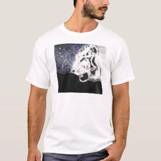 星の白いトラ Tシャツ