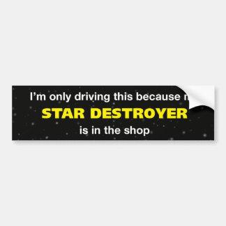 星の破壊者のバンパーステッカー バンパーステッカー
