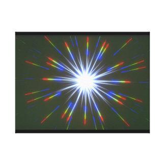 星の破烈。 (スターバスト; stars_Space場面 キャンバスプリント