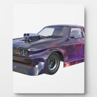 星の紫色のレースカー フォトプラーク