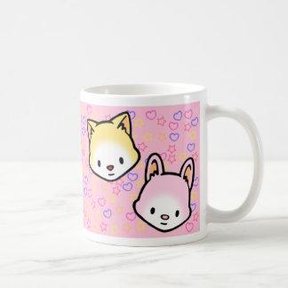 星の菓子および蜂蜜のハートのマグ コーヒーマグカップ
