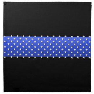 星の薄いブルーラインロット ナプキンクロス