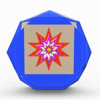 星の装飾: 青い背景LOWPRICES 表彰盾