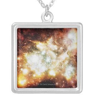 星の誕生によってすごい集り シルバープレートネックレス