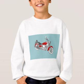 星の赤のバイク スウェットシャツ