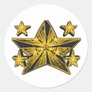 星の起源(すごい新星の芸術的な概念) ラウンドシール