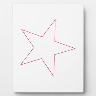 星の輪郭 フォトプラーク