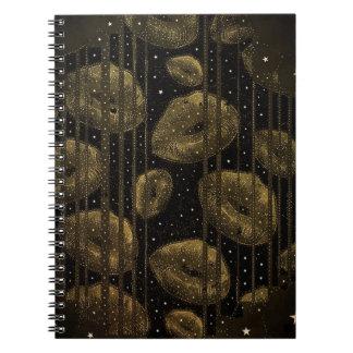 星の金ゴールドの下のキス ノートブック