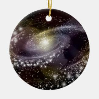 星の銀河系の銀河の宇宙のプリント セラミックオーナメント