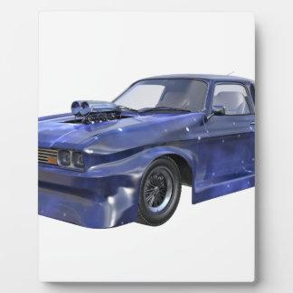 星の青いレースカー フォトプラーク