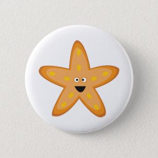 星の魚 5.7CM 丸型バッジ