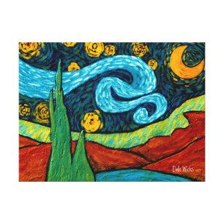 星のLitの夜空 キャンバスプリント