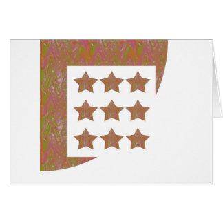 星のNovinoの署名のスタイルパターンn背景 カード