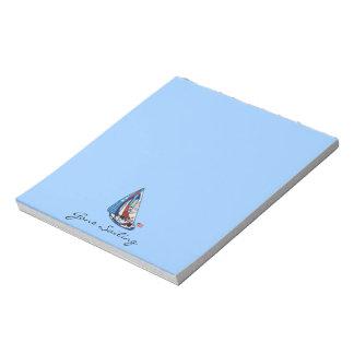星はメモ帳を縞で飾り、航海します ノートパッド