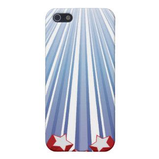 星は及び米国のiPhone 4/4Sの箱を縞で飾ります iPhone 5 Case
