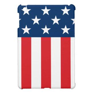 星は及び縞で飾ります iPad MINIケース