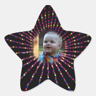 星は星のステッカーをつけます 星シール