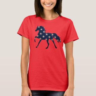 星は馬のワイシャツをちりばめました Tシャツ