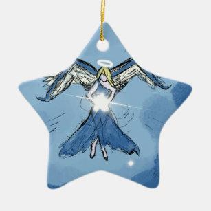 星を作る天使 セラミックオーナメント