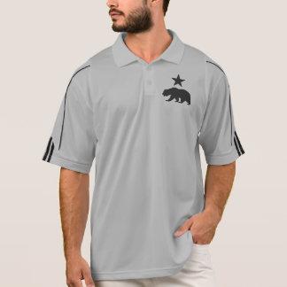星を持つカリフォルニア共和国の灰色グマ ポロシャツ