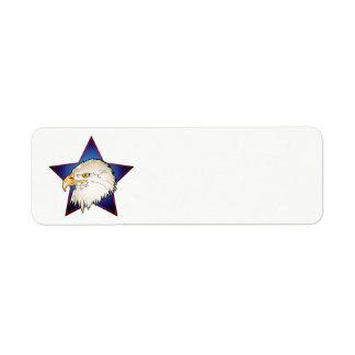 星を持つ7月4日の白頭鷲 ラベル