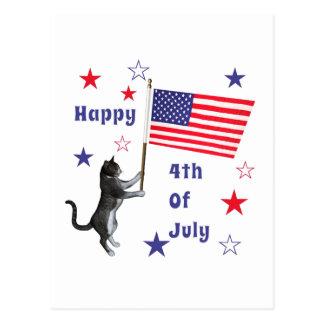 星を持つ7月4日猫 ポストカード