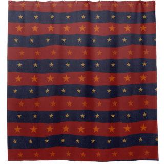 星パターン シャワーカーテン