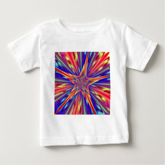 星パターン ベビーTシャツ
