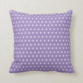 星パターン。 紫色の星のコレクション クッション
