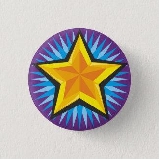 星ボタン 3.2CM 丸型バッジ