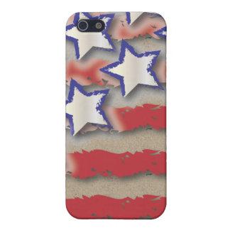 星及びストライプ米国の旗の赤白青 iPhone 5 ケース